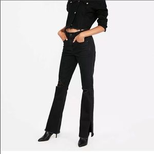 NWT Express black boot cut high rise jeans size 4